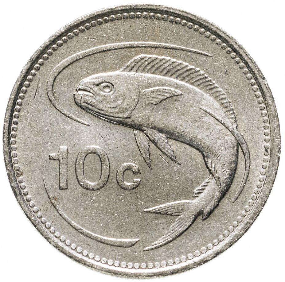 купить Мальта 10 центов (cents) 1986