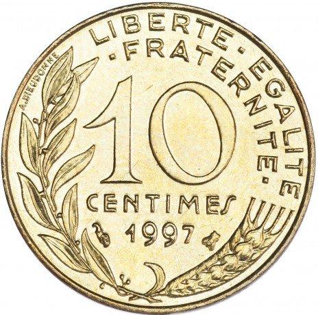 купить Франция 10 сантимов 1997