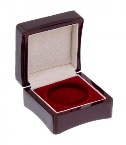 купить Деревянный футляр для монеты в капсуле (диаметр 44 мм), бордовый