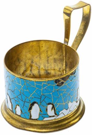 """купить Подстаканник """"Пингвины"""", латунь, эмаль, СССР, 1960-1990 гг."""
