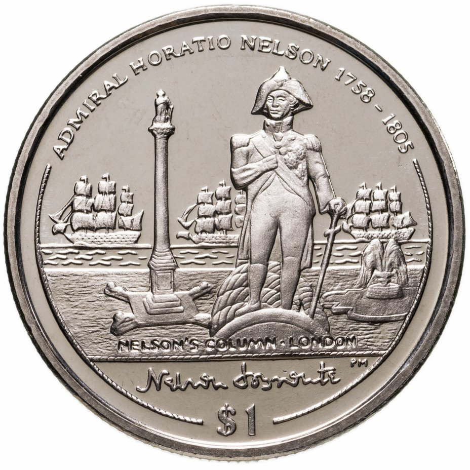 """купить Британские Виргинские острова 1 доллар (dollar) 2005 """"Колонна Нельсона"""""""