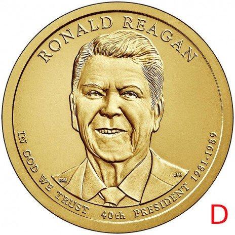 купить 1 доллар 2016 D Рональд Рейган (40-й президент США)
