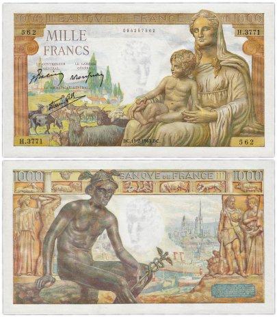 купить Франция 1000 франков  1943 (Pick 102)