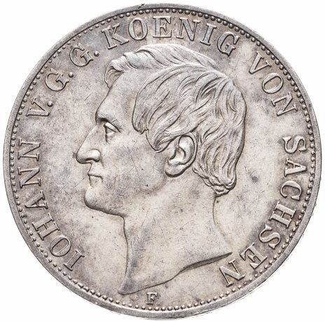 купить Саксония 2 талера 1855 Иоганн