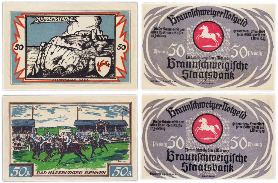 купить Германия (Брауншвейг: Бланкенбург)  набор из 2-х нотгельдов 1921