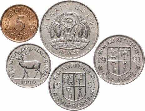 купить Маврикий набор из 5 монет 1990-1993