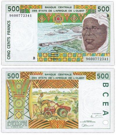 купить Западная Африка 500 франков 1996 (Pick 210Bg) Литера B Бенин