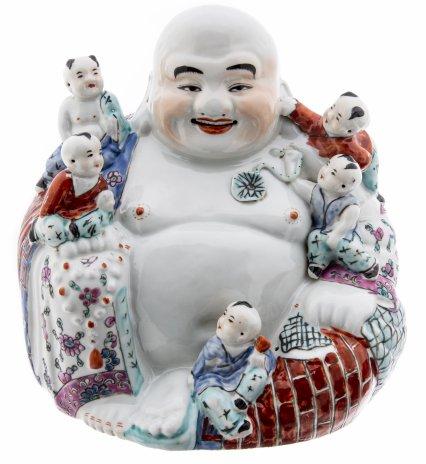 купить Статуэтка «Хотэй с детьми» (японский бог благополучия), фарфор, роспись, Китай, 1950-1960 гг.