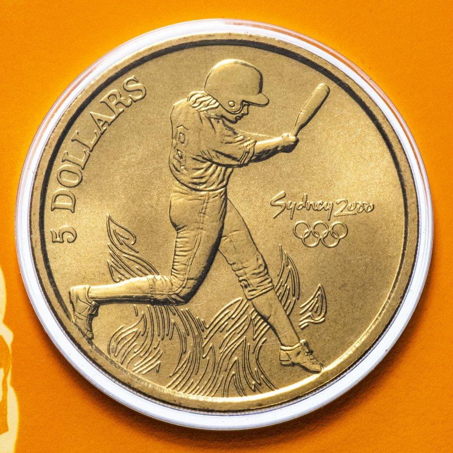 купить Австралия 5 долларов (dollars) 2000 Олимпийские игры в Сиднее - Софтбол