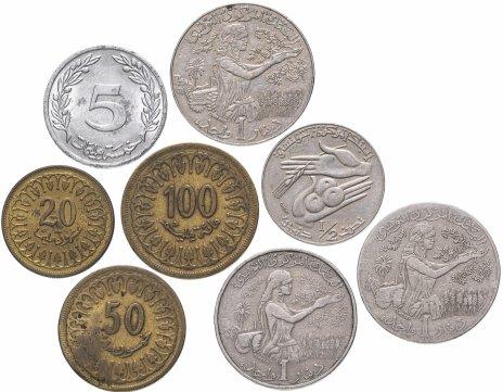 купить Тунис набор из 8 монет 1983-1990