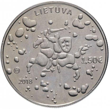 купить Литва 1,5 евро 2018 Йонинес