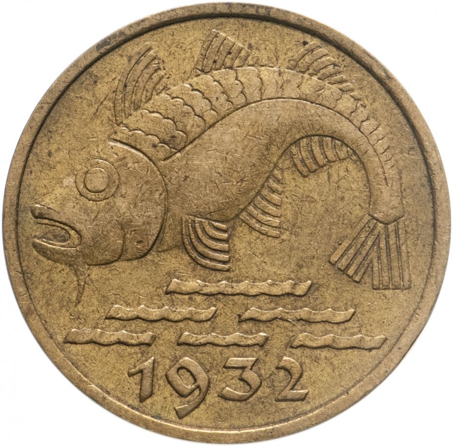 купить Данциг 10 пфеннигов (pfennig) 1932