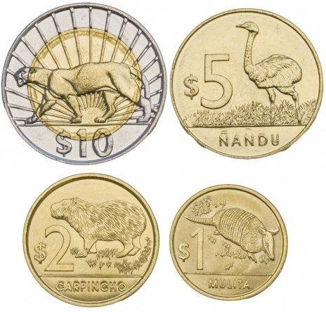 купить Уругвай набор монет 2012-2015 (4 штуки)
