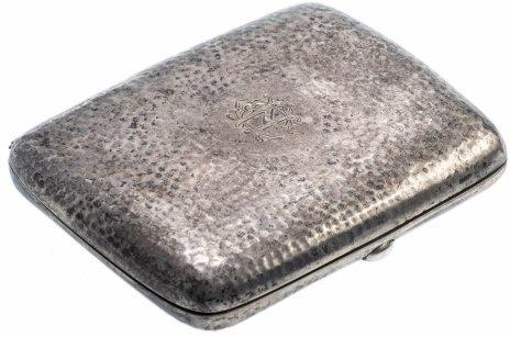 купить Старинный портсигар с клеймом, серебро, Великобритания, 1895-1910 гг.