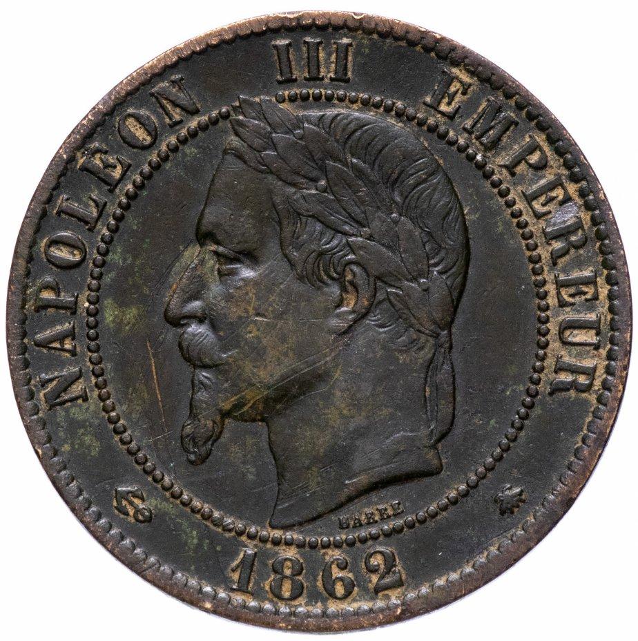 купить Франция 10 сантимов 1862