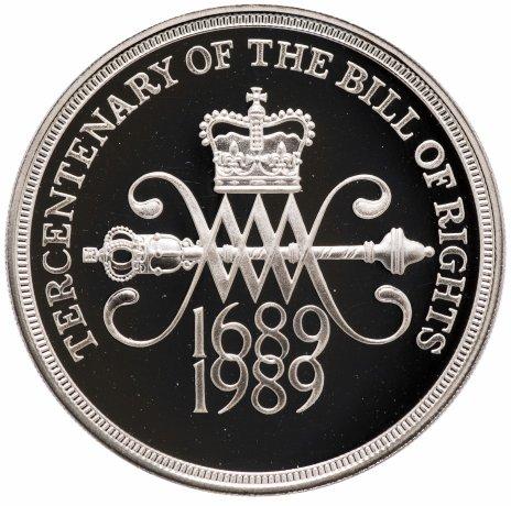 """купить Великобритания 2 фунта 1989 300 лет """"Биллю о правах"""" Англии"""
