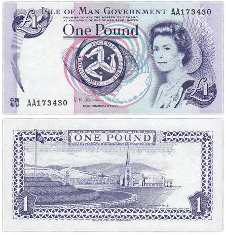 купить Остров Мэн 1 фунт 2009 (Pick 40с)