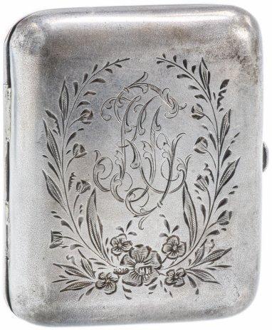 купить Старинный серебряный портсигар с надписью