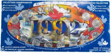 """купить Канада набор монет 25 центов 1992 серия """"Провинции"""" (12 монет) в буклете"""