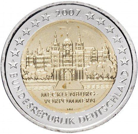 """купить Германия 2 евро 2007 F """"Федеральные земли Германии: Мекленбург - Передняя Померания"""""""