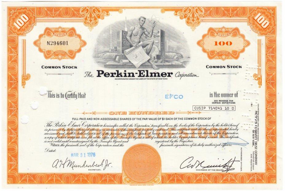 купить Акция США - The Perkin-Elmer Corporation 1976 г.