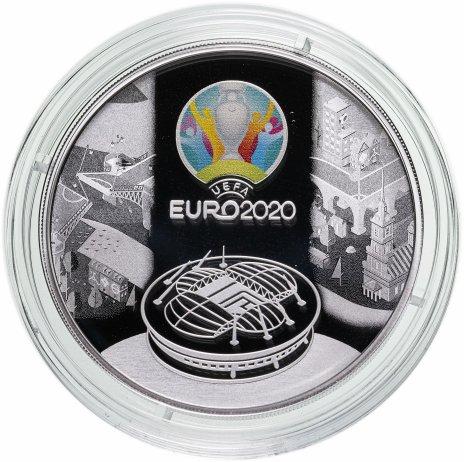 """купить 3 рубля 2021 Proof """"УЕФА Чемпионат Европы по футболу 2020 (кубок UEFA EURO-2020)"""""""