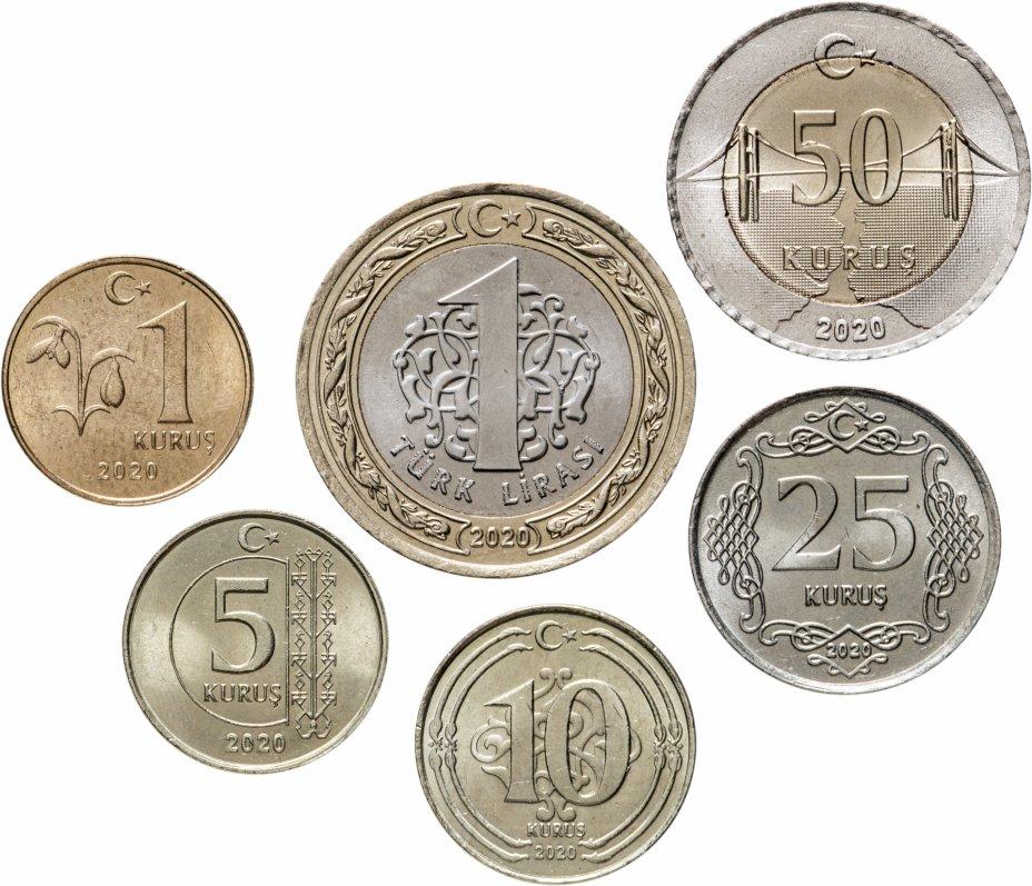 купить Турция набор монет 2020 (6 штук)