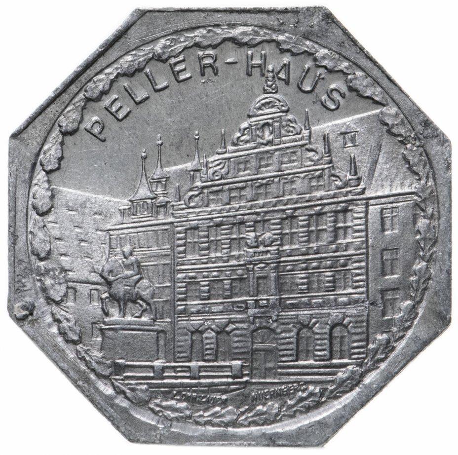 """купить Германия (Нюрнберг) нотгельд  20 пфеннигов 1921 """"Дом Пиллера"""" трамвайный жетон"""