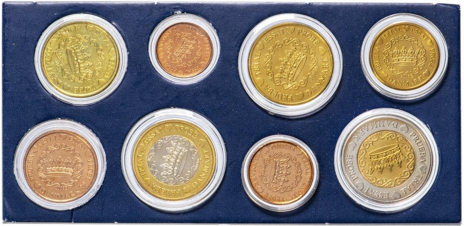 купить Дания 2003 набор из 8 монетовидных жетонов пробных евро