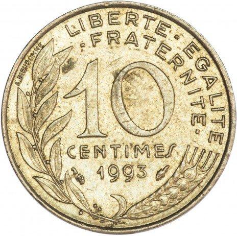 купить Франция 10 сантимов 1993