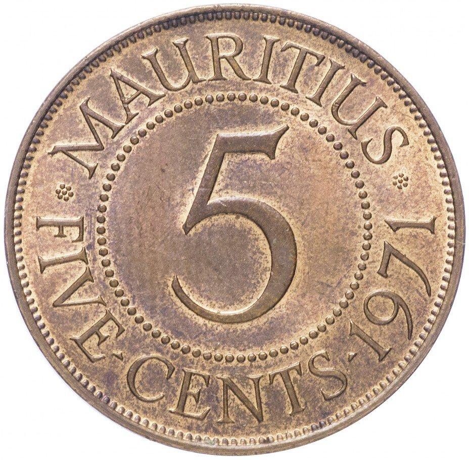 купить Маврикий 5 центов 1971