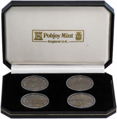 """купить Сьерра-Леоне набор из 4 монет 10 долларов 2008 """"Ночные животные"""" со вставками из бриллиантов в подарочной упаковке"""