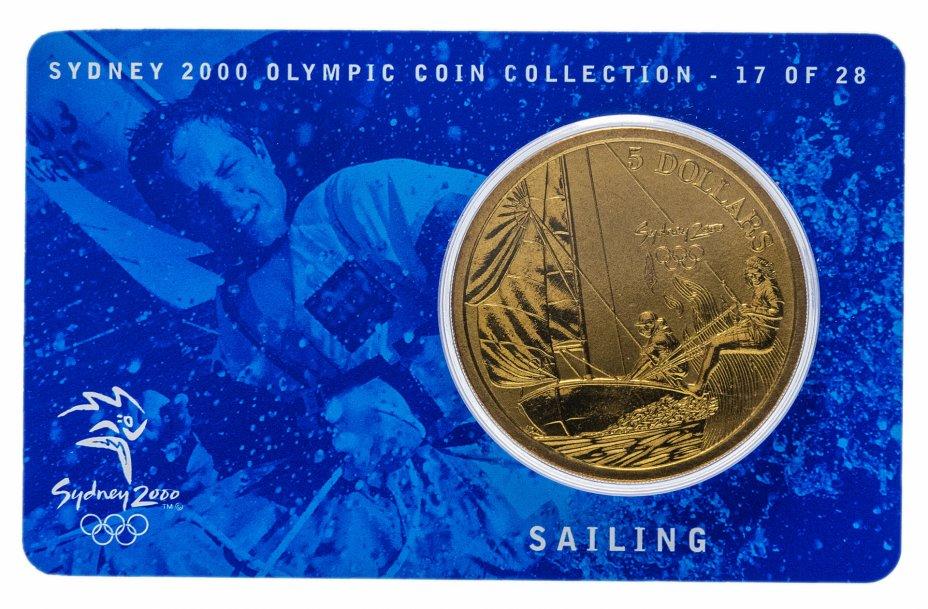 купить Австралия 5 долларов (dollars) 2000 Олимпийские игры в Сиднее - Парусный спорт