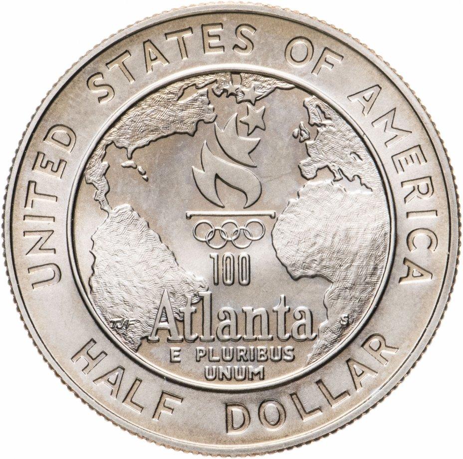 """купить США 50 центов (1/2 доллара, half dollar) 1995 """"XXVI летние Олимпийские Игры, Атланта 1996 - Бейсбол"""""""