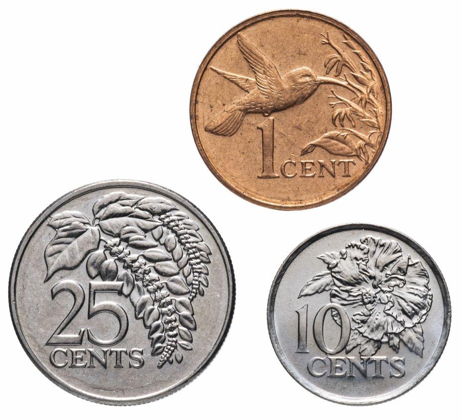 купить Тринидад и Тобаго набор монет 2005 (3 штуки, UNC) Флора, Фауна