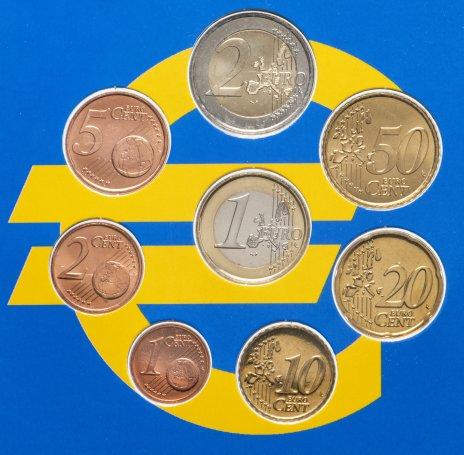 купить Нидерланды годовой набор из 8 монет евро 1999-2003 в буклете