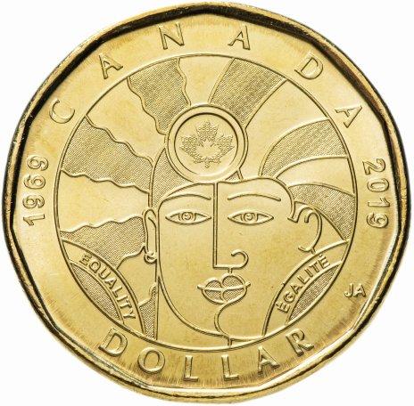 """купить Канада  1 доллар 2019 """"50 лет декриминализации гомосексуализма в Канаде"""""""