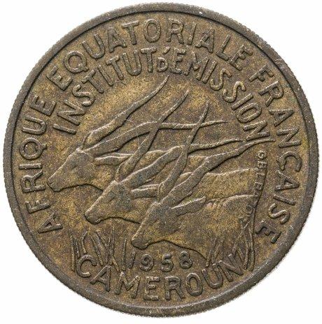 купить Французская Экваториальная Африка 25 франков (francs) 1958