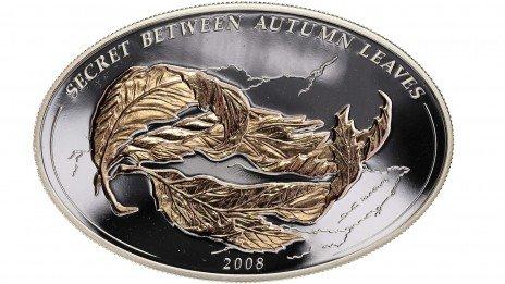 """купить Палау 5 долларов, 2008 год, """"Иллюзия Девушка в осенних листьях"""""""