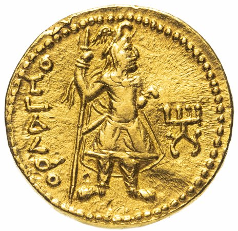 купить Кушанская империя, Канишка I, 127-151 годы, Динар. (Бактрия, Балх)