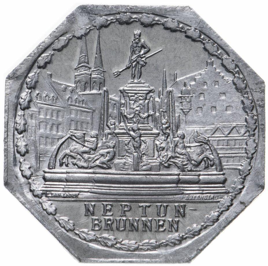 """купить Германия (Нюрнберг) нотгельд  20 пфеннигов 1921 """"Фонтан Нептуна"""" трамвайный жетон"""