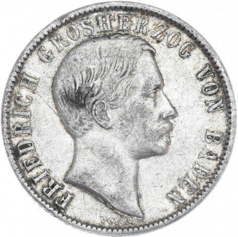 купить Германия Баден 1/2 гульдена 1860