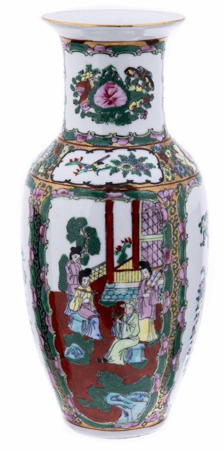купить Ваза винтажная с сюжетным изображением, фарфор, роспись, Китай, 1990-2010 гг.