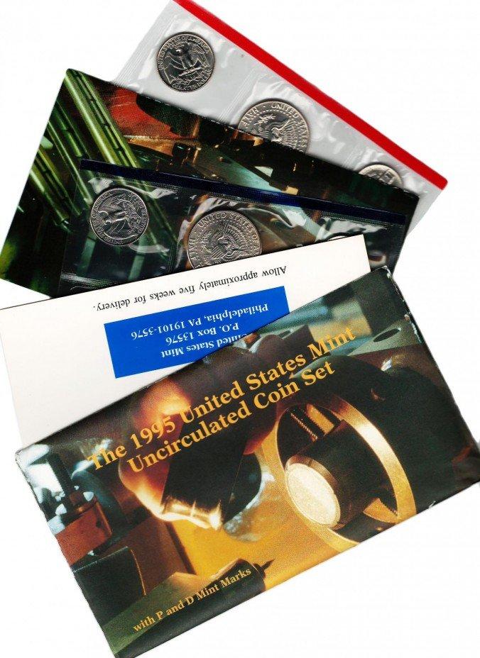 купить США набор монет 1995 P+D (10 монет+2 жетона)