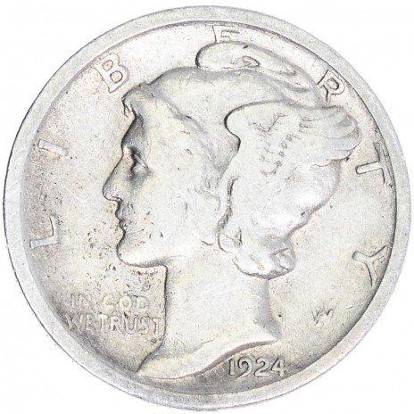 купить США 1 дайм 1924