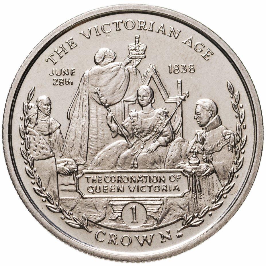 """купить Гибралтар 1 крона 2001 """"Викторианский век - Коронация королевы Виктории 28 июня 1838"""""""