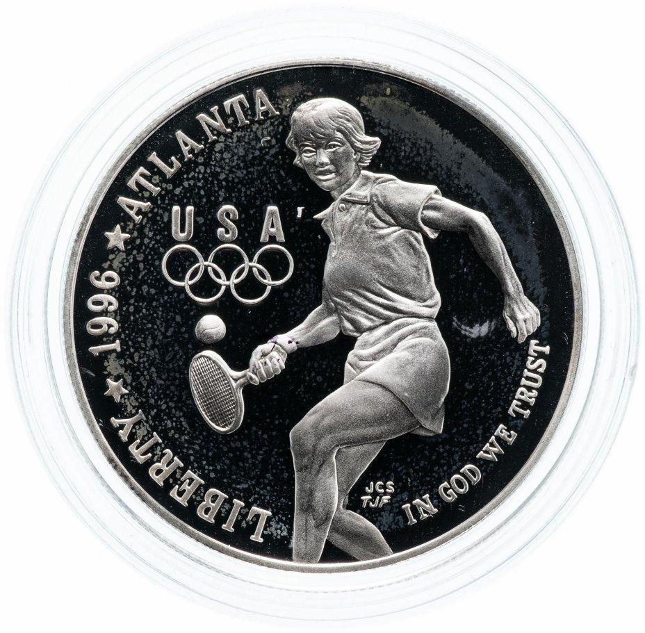 """купить США 1 доллар (dollar) 1996 P """"XXVI летние Олимпийские Игры, Атланта 1996 - Теннис"""""""
