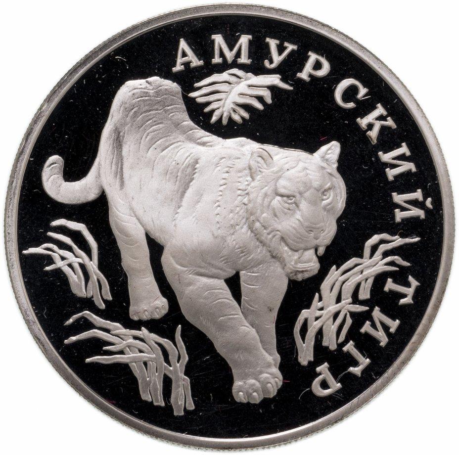 купить 1 рубль 1993 ЛМД амурский тигр