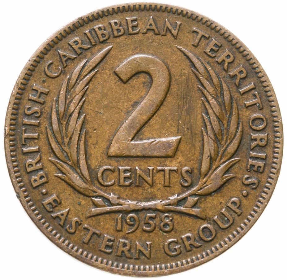 купить Восточные Карибы 2 цента (cents) 1958