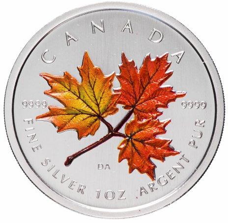 """купить Канада 5 долларов 2001 """"Кленовые листья"""" эмаль"""